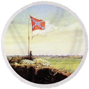 Flag Of Fort Sumter Round Beach Towel