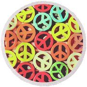 Flares Of Freedom Round Beach Towel