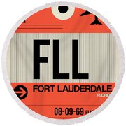Fll Fort Lauderdale Luggage Tag I Round Beach Towel