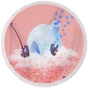 Floating Island Home Round Beach Towel