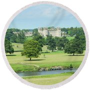 Floors Castle And River Tweed Round Beach Towel