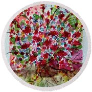 Floral Life Round Beach Towel