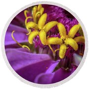 Flowers Within Flowers Round Beach Towel