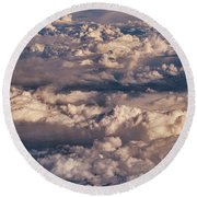 Flying Over The Rocky Mountains Round Beach Towel
