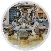 Fontana Delle Tartarughe Round Beach Towel