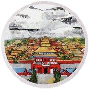 Forbidden City 2 201909 Round Beach Towel