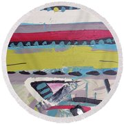 Forest Drums Round Beach Towel by John Jr Gholson