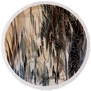 Forest Of Lights Round Beach Towel