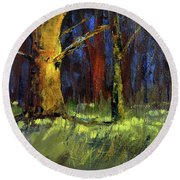 Forest Trees 1 Round Beach Towel