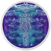 Formless  Round Beach Towel