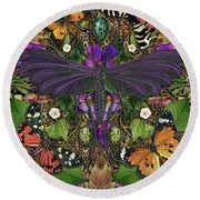 Forms Of Nature #3 Round Beach Towel