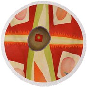 Four Points Less Known Round Beach Towel