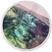 Fractured Glass Round Beach Towel