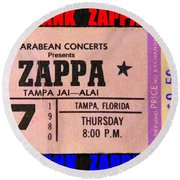 Frank Zappa 1980 Concert Ticket Round Beach Towel