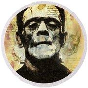 Frankenstein's Notebooks Round Beach Towel