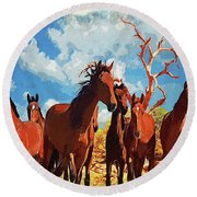 Free Spirits Round Beach Towel
