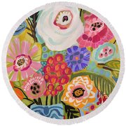 Fresh Flowers In Vase II    Round Beach Towel