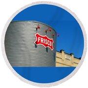 Frisco Museum  Round Beach Towel