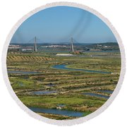 From Algarve To Andalusia Round Beach Towel