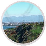 From Pv To La Round Beach Towel