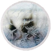 Frost From Canada Round Beach Towel