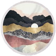 Frost Reflection Round Beach Towel