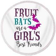 Fruit Bat Conservation Halloween Flying Fox Women Light Round Beach Towel