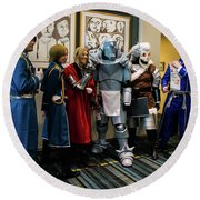 Fullmetal Alchemist Cosplayers Round Beach Towel