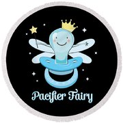 Fun Pacifier Fairy Boys To Give Up Pacifiers Round Beach Towel