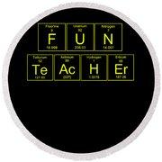 Fun Teacher Teachers Assistant Design Yellow Round Beach Towel