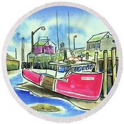 Fundy Tide Hall's Harbour Round Beach Towel