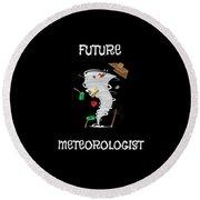 Funny Future Meteorologist Tornado Hurricane Round Beach Towel