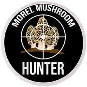 Funny Mushroom Morel Mushroom Hunter Gift Round Beach Towel