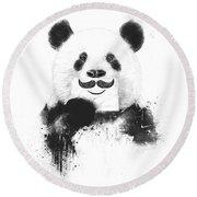 Funny Panda Round Beach Towel