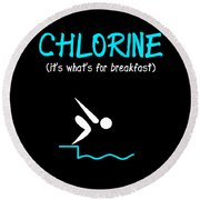 Funny Swimming Chlorine Its Whats For Breakfast Diving Round Beach Towel