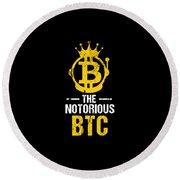 Funny The Notorious Btc Bitcoin Crypto Round Beach Towel