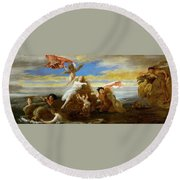 Galatea And Polyphemus  Round Beach Towel