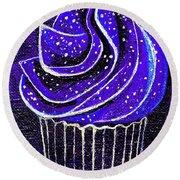 Galactic Universe Cupcake Round Beach Towel