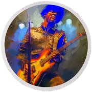 Gary Clark Jr Round Beach Towel