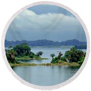 Gatun Lake Islands Round Beach Towel