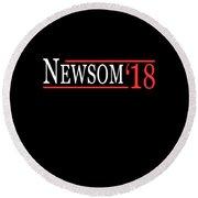 Gavin Newsom For Governor 2018 Round Beach Towel
