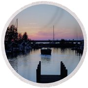Calm Sunset Finish Round Beach Towel