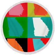 Georgia Pop Art Round Beach Towel
