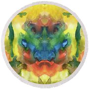 Ghost - Watercolor Painting On Paper Round Beach Towel