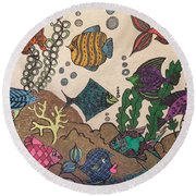Gils Night Out Round Beach Towel