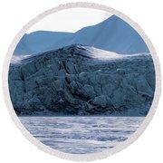 Glacier Cracked Under Pressure Round Beach Towel