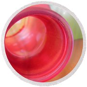 Glass Abstract 719 Round Beach Towel