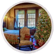 Glensheen Chester's Bedroom Round Beach Towel by Susan Rissi Tregoning