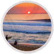 Gold Cup Sunset Round Beach Towel