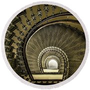 Golden Stairway Round Beach Towel